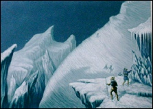 Baxter oil prints Ascent of Mont Blanc gravure engraving