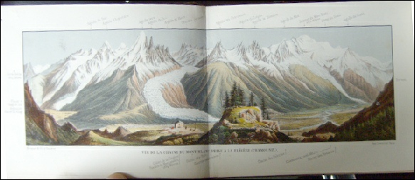 Gravure Mont Blanc from Flegere