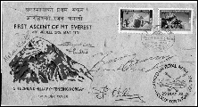 tenzing signed first day cover