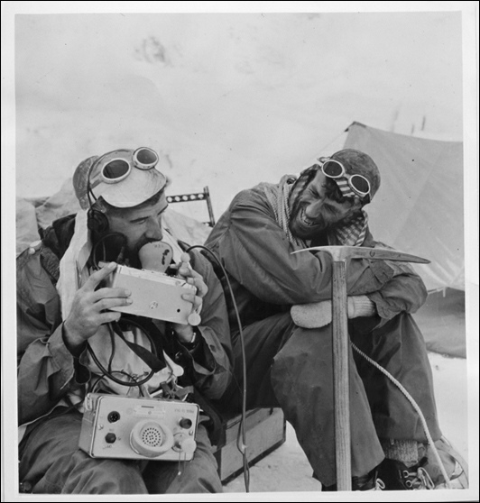 Alf Gregory Ed Hillary and George Lowe Mount Everest 1953