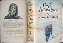 High Adventure by Sir Edmund Hillary Mount Everest mountaineering books