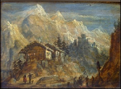 Le Mont Blanc oil painting
