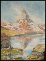 old mountain paintings of The Matterhorn for sale