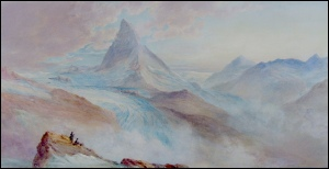 Matterhorn watercolour by George Barnard