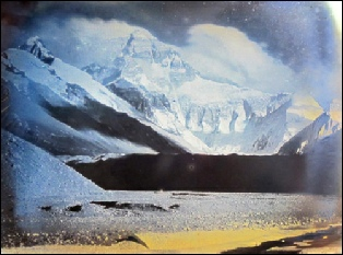 Noel Glass Lantern Slide Everest