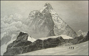 The Matterhorn from the Theodule Pass by Edward Whymper