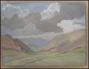 Theodore Howard Somervell old Mountain paintings of the Lake District