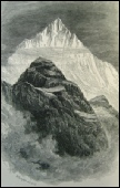 Weisshorn engraving by Edward Whymper from a painting by Elijah Walton